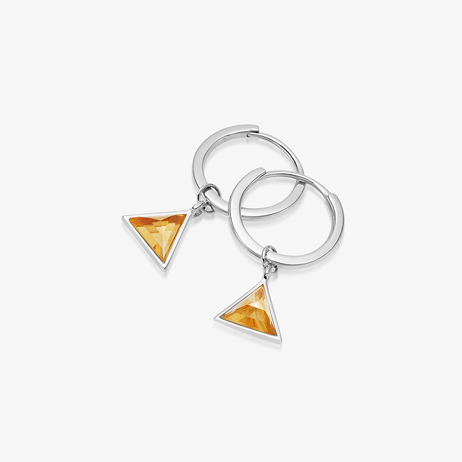 CITRINE ULTIMATE GUARDIAN EARRINGS WHITE GOLD (MINI)