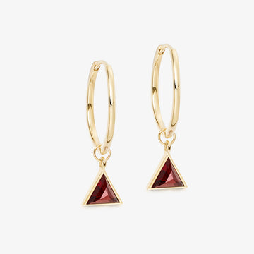 RED GARNET ULTIMATE GUARDIAN EARRINGS GOLD (MEDIUM)