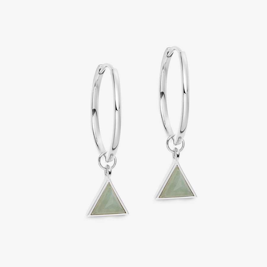 JADE ULTIMATE GUARDIAN EARRINGS WHITE GOLD (MEDIUM)