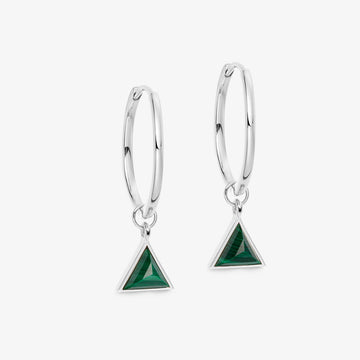 MALACHITE ULTIMATE GUARDIAN EARRINGS WHITE GOLD (MEDIUM)