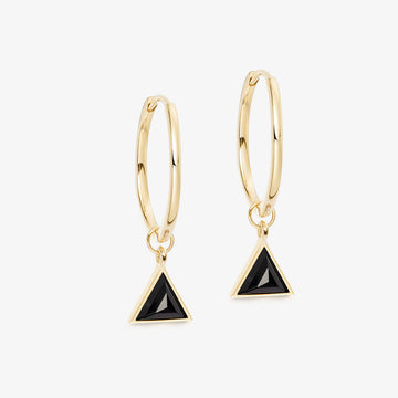 BLACK ONYX ULTIMATE GUARDIAN EARRINGS GOLD (MEDIUM)