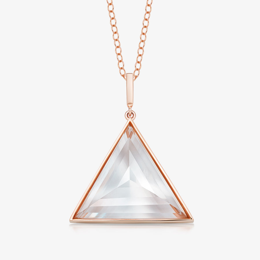 CLEAR QUARTZ ULTIMATE GUARDIAN PENDANT ROSE GOLD (LARGE)
