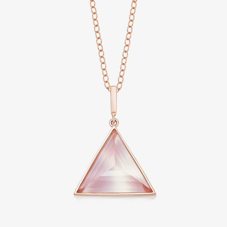 ROSE QUARTZ ULTIMATE GUARDIAN PENDANT ROSE GOLD (MEDIUM)
