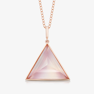 ROSE QUARTZ ULTIMATE GUARDIAN PENDANT (ROSE GOLD)
