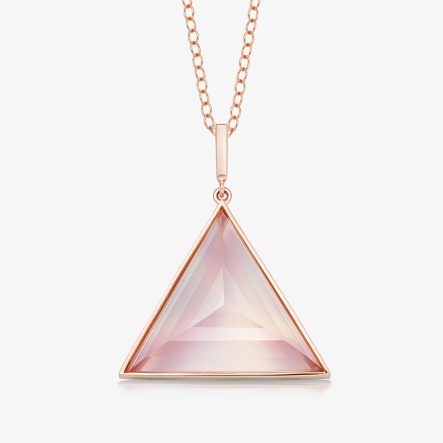 ROSE QUARTZ ULTIMATE GUARDIAN PENDANT ROSE GOLD (LARGE)