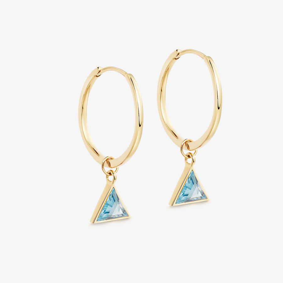 BLUE TOPAZ ULTIMATE GUARDIAN EARRINGS GOLD (MEDIUM)