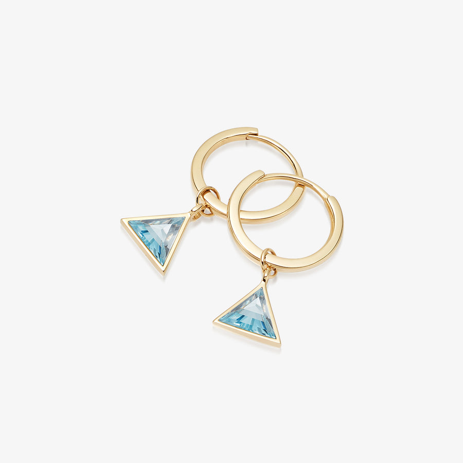 BLUE TOPAZ ULTIMATE GUARDIAN EARRINGS GOLD (MINI)