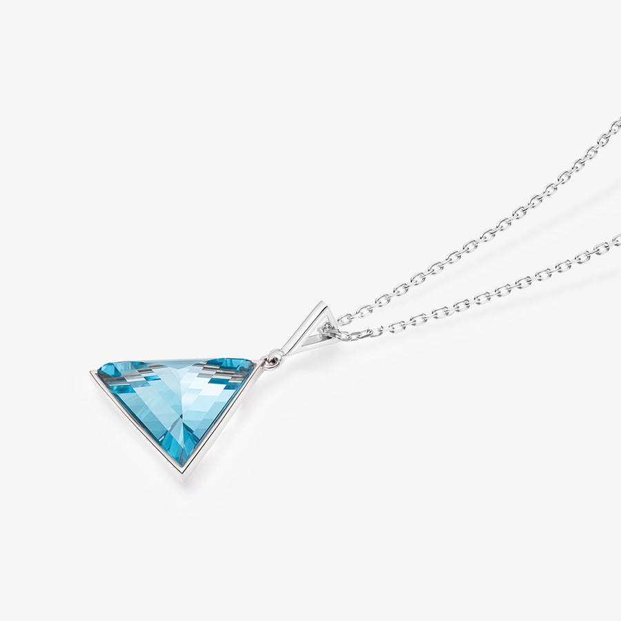 BLUE TOPAZ ULTIMATE GUARDIAN PENDANT SILVER (MEDIUM)