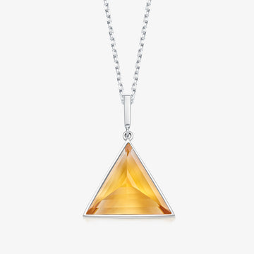 CITRINE MINI GUARDIAN PENDANT (WHITE GOLD)
