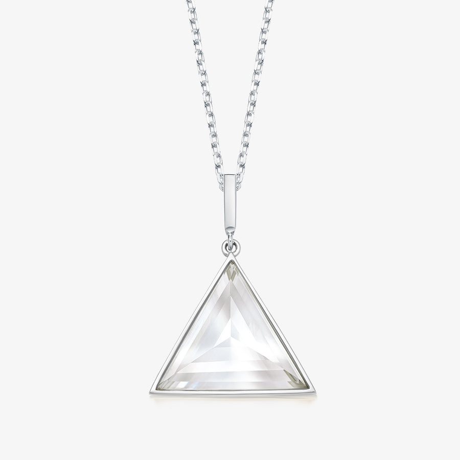 CLEAR QUARTZ ULTIMATE GUARDIAN PENDANT WHITE GOLD (MEDIUM)