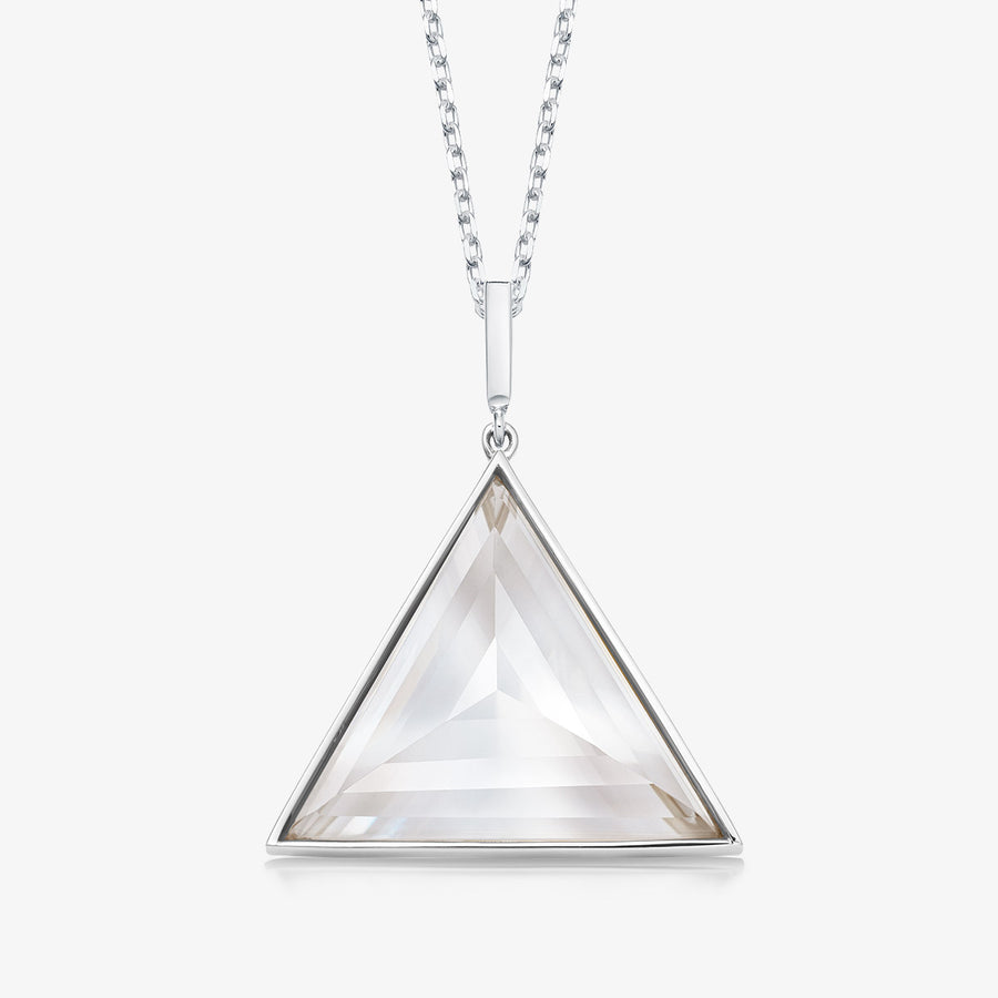 CLEAR QUARTZ ULTIMATE GUARDIAN PENDANT WHITE GOLD (LARGE)