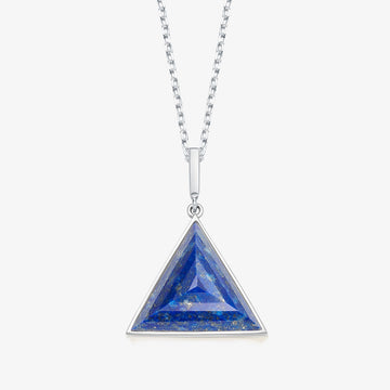 BLUE LAPIS MINI GUARDIAN PENDANT (WHITE GOLD)