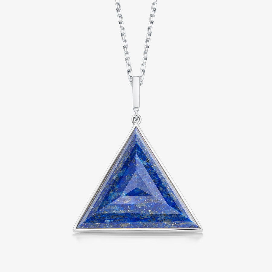 BLUE LAPIS ULTIMATE GUARDIAN PENDANT (WHITE GOLD)