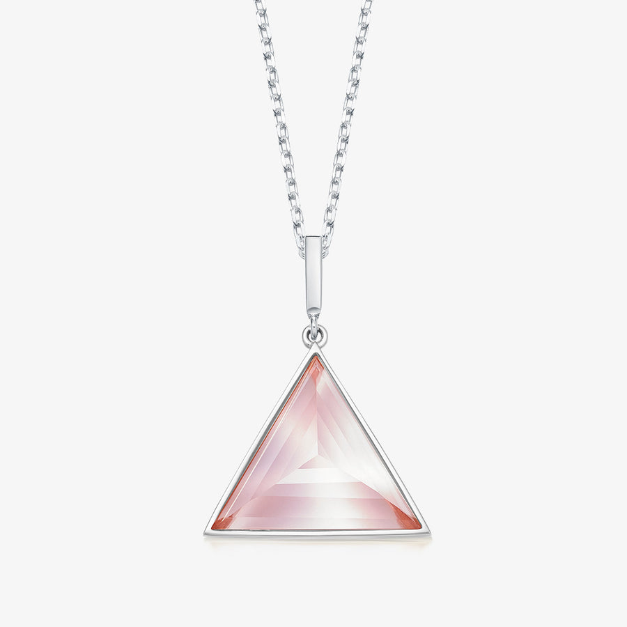 ROSE QUARTZ ULTIMATE GUARDIAN PENDANT WHITE GOLD (MEDIUM)