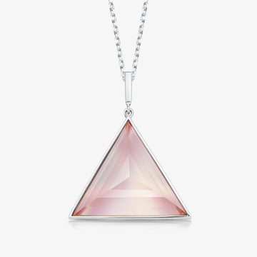 ROSE QUARTZ ULTIMATE GUARDIAN PENDANT WHITE GOLD (LARGE)