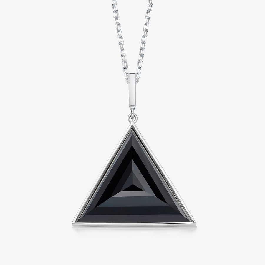 BLACK ONYX ULTIMATE GUARDIAN PENDANT SILVER (LARGE)