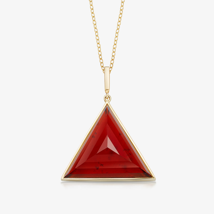 RED GARNET ULTIMATE GUARDIAN PENDANT GOLD (LARGE)