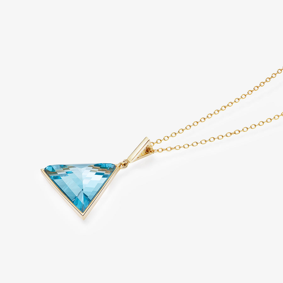 BLUE TOPAZ ULTIMATE GUARDIAN PENDANT GOLD (MEDIUM)