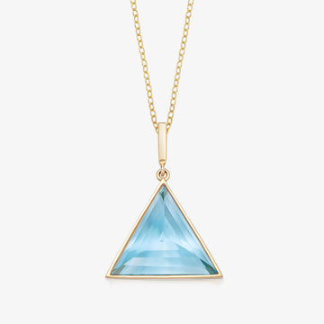 BLUE TOPAZ MINI GUARDIAN PENDANT (GOLD)