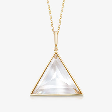 CLEAR QUARTZ ULTIMATE GUARDIAN PENDANT GOLD (LARGE)