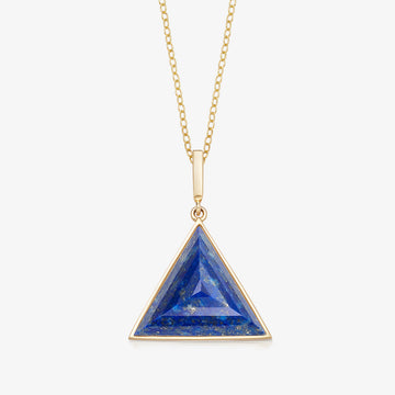 BLUE LAPIS MINI GUARDIAN PENDANT (GOLD)