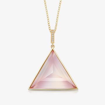 ROSE QUARTZ ULTIMATE GUARDIAN PENDANT WITH DIAMOND (GOLD)