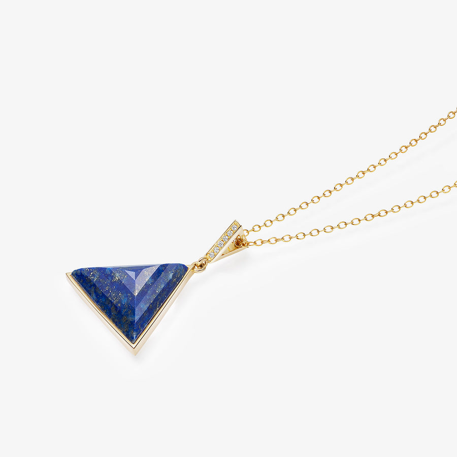 BLUE LAPIS ULTIMATE GUARDIAN PENDANT WITH DIAMOND GOLD (MEDIUM)