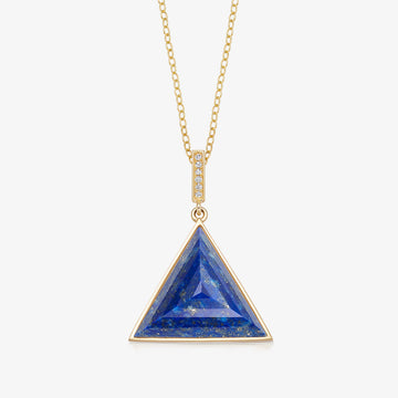 BLUE LAPIS MINI GUARDIAN PENDANT WITH DIAMOND (GOLD)