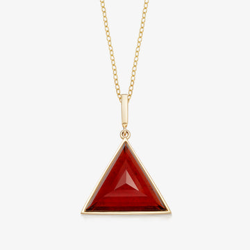 RED GARNET MINI GUARDIAN PENDANT (GOLD)