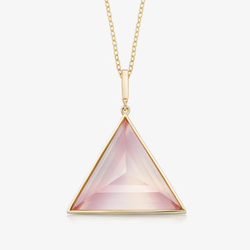 ROSE QUARTZ ULTIMATE GUARDIAN PENDANT GOLD (LARGE)