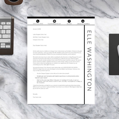 The Contemporary Resume Template