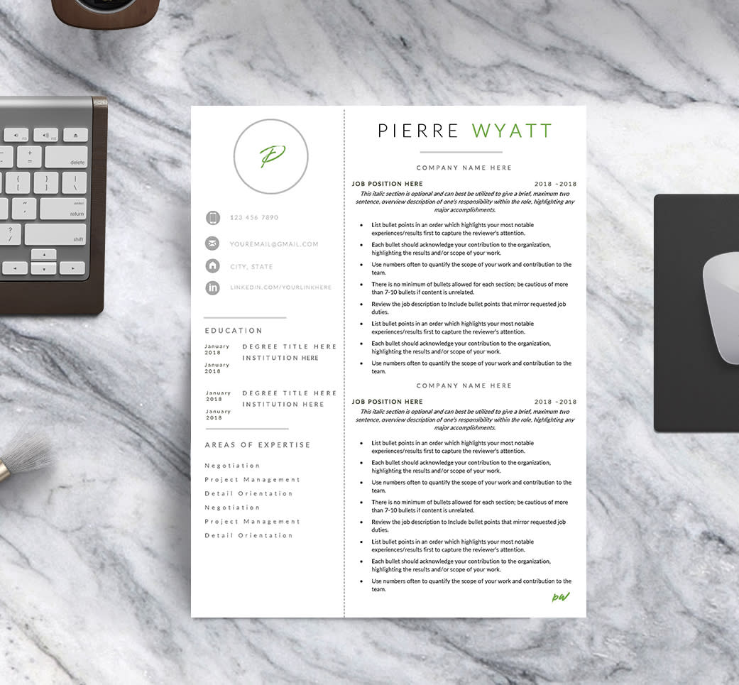 The Designer Resume Template I