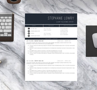 The Sophisticated Resume Template