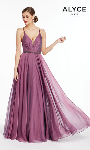 Alyce Paris 1383 prom dress images.  Alyce Paris 1383 is available in these colors: French Blue,  Purple.
