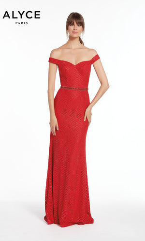 Alyce Paris 1390 prom dress images.  Alyce Paris 1390 is available in these colors: Red,  Navy.