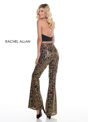 Rachel Allan 4007 prom dress images.  Rachel Allan 4007 is available in these colors: Black Cheetah.