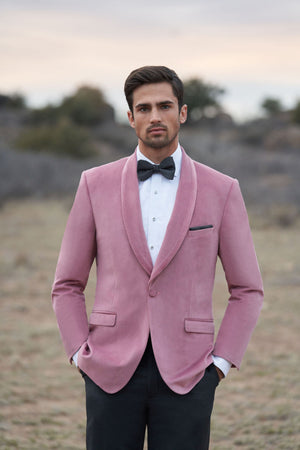 Slim Fit Tuxedos Venice Velvet Dusty Rose