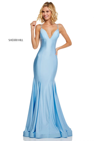 Sherri Hill 52779 prom dress images.  Sherri Hill 52779 is available in these colors: Wine; Red; Royal; Orchid; Yellow; Berry; Navy; Light Blue; Black; Blush.