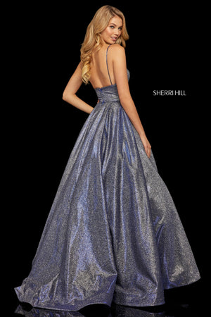 Sherri Hill 52960 prom dress images.  Sherri Hill 52960 is available in these colors: Turq Silver; Red Silver; Aqua Silver; Royal Silver; Fuchsia Silver; Nude Silver; Mocha Silver.
