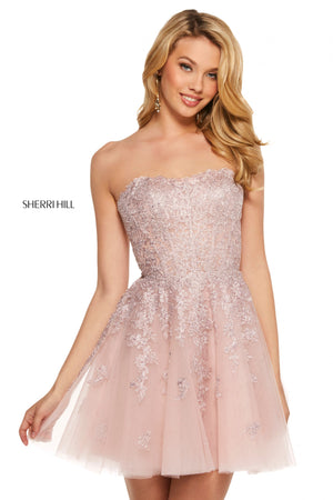 Sherri Hill 53099 prom dress images.  Sherri Hill 53099 is available in these colors: Ivory; Burgundy; Lilac; Blush; Black; Nude; Light Blue; Navy.