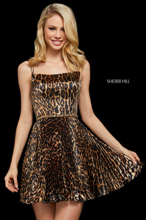 Sherri Hill 53112 prom dress images.  Sherri Hill 53112 is available in these colors: Animal Print.