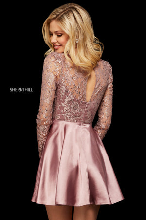 Sherri Hill 53114 prom dress images.  Sherri Hill 53114 is available in these colors: Red; Turquoise; Wine; Rose; Mauve.