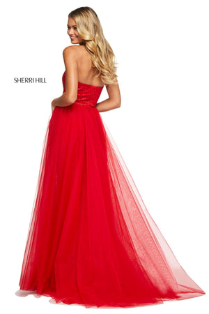 Sherri Hill 53207 dresses are available in the following colors: Black, Blush, Aqua, Ivory, Red. $450 is the Formal Approach best price guarantee