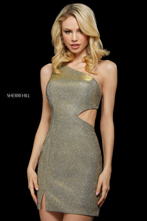 Sherri Hill 53244 prom dress images.  Sherri Hill 53244 is available in these colors: Leopard Gold.