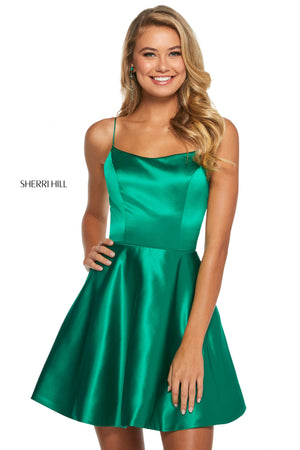 Sherri Hill 53267 prom dress images.  Sherri Hill 53267 is available in these colors: Yellow; Ivory; Red; Emerald; Royal; Light Blue; Wine.