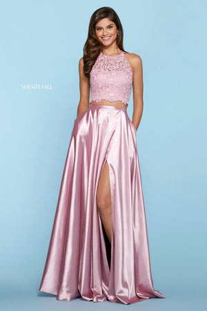 Sherri Hill 53268 prom dress images.  Sherri Hill 53268 is available in these colors: Black, Lilac, Red, Yellow, Ivory, Coral, Light Blue, Aqua, Wine, Navy, Mocha, Rose.