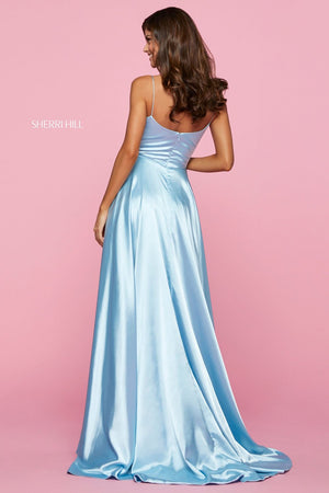 Sherri Hill 53299 prom dress images.  Sherri Hill 53299 is available in these colors: Gold, Black, Lilac, Ivory, Red, Gunmetal, Emerald, Yellow, Royal, Mocha, Wine, Teal, Aqua, Coral, Rose, Navy, Light Blue.