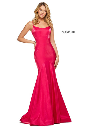 Sherri Hill 53351 prom dress images.  Sherri Hill 53351 is available in these colors: Navy, Red, Teal, Orange, Purple, Yellow, Pink, Wine, Hot Pink, Watermelon, Coral, Aqua.