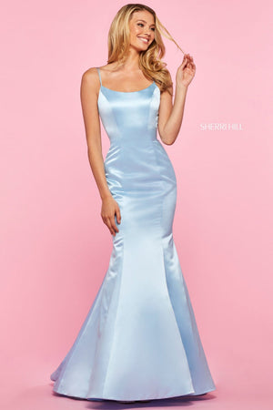 Sherri Hill 53354 prom dress images.  Sherri Hill 53354 is available in these colors: Red, Blush, Light Blue, Ivory, Yellow.