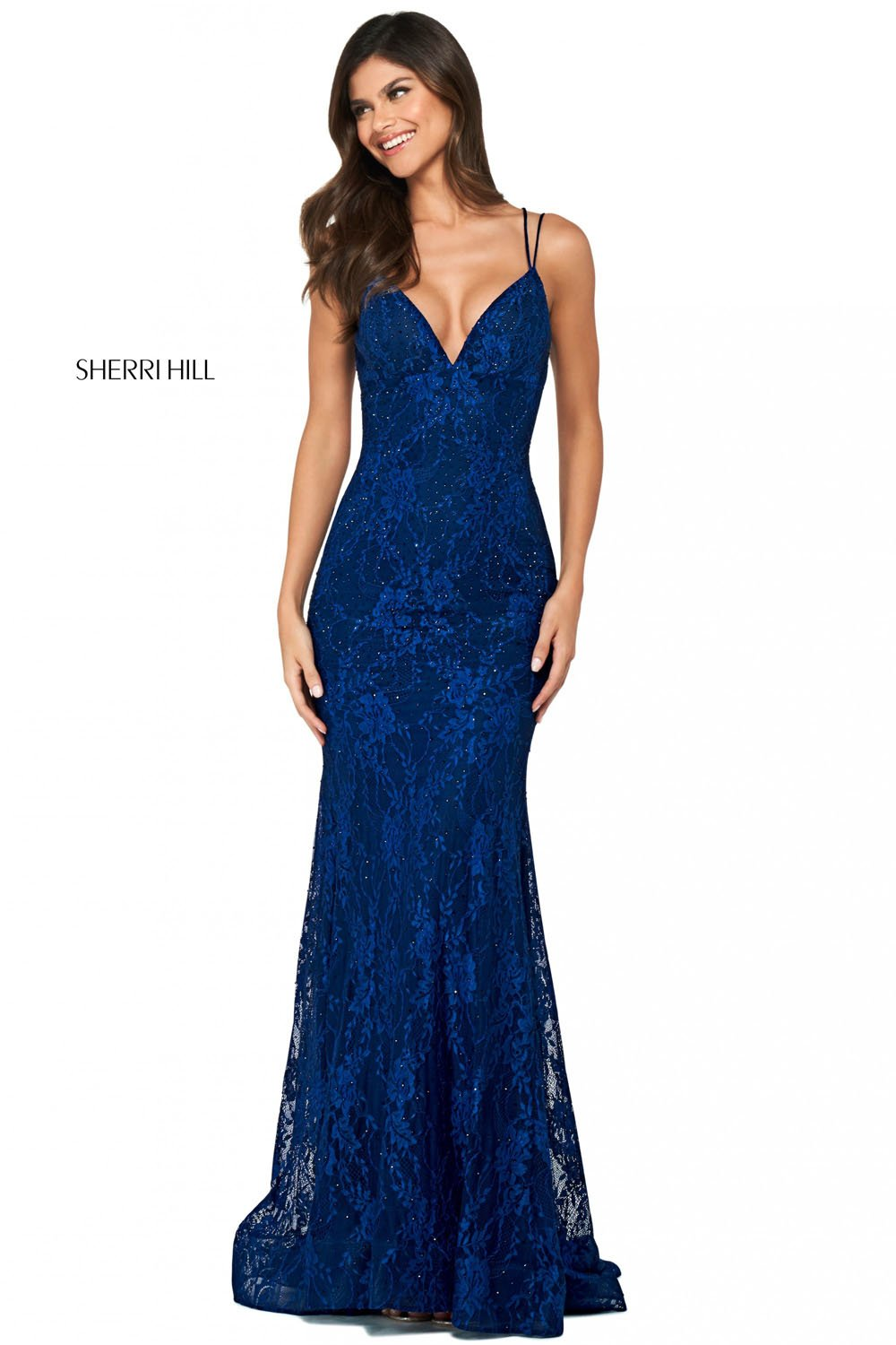 Sherri Hill 53364 prom dress images.  Sherri Hill 53364 is available in these colors: Pink, Navy, Royal, Red, Ivory, Black, Aqua.